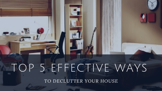 Some effective ways to de-clutter your place?